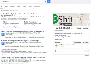 UpShift Digital Google Search